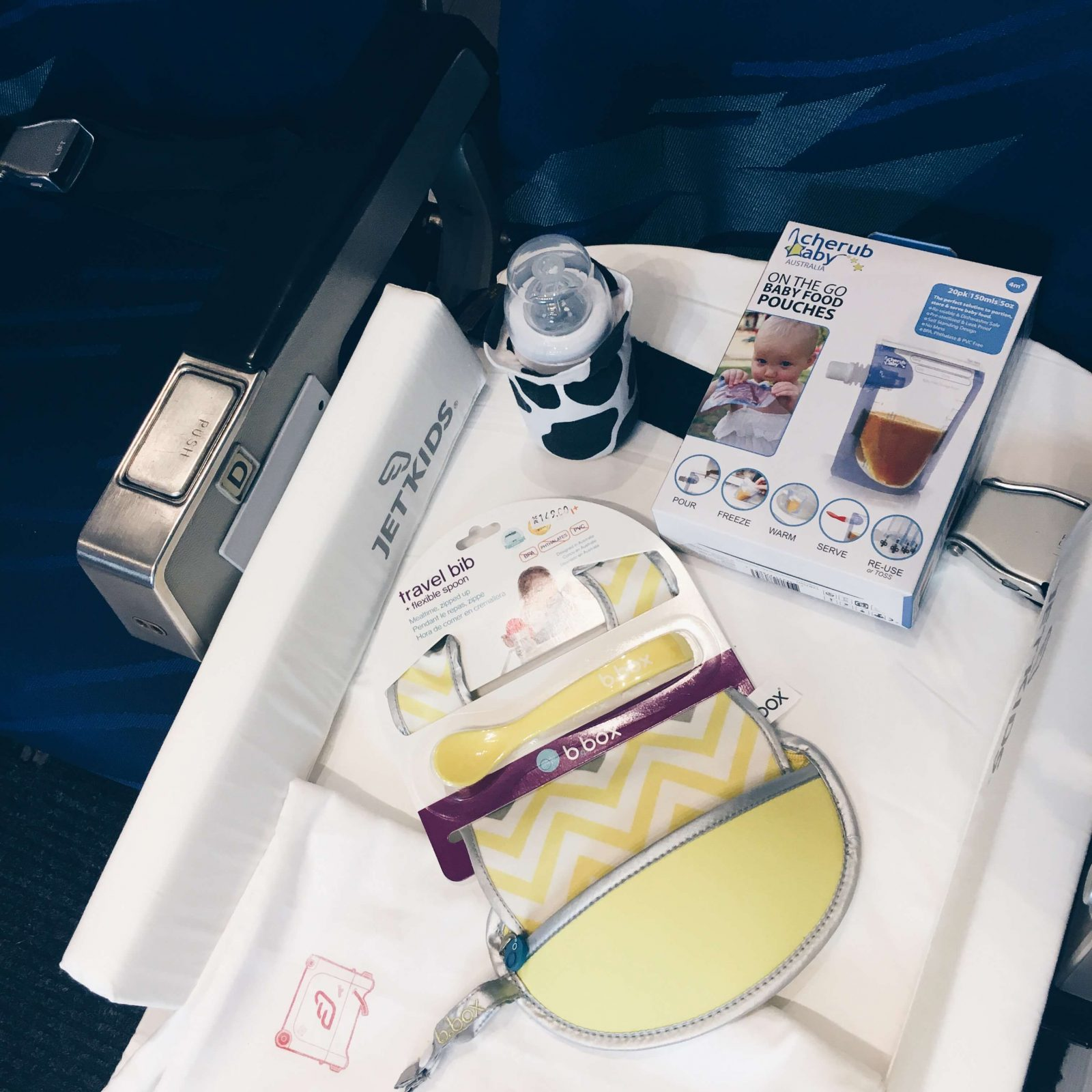 flying with a baby food essentials